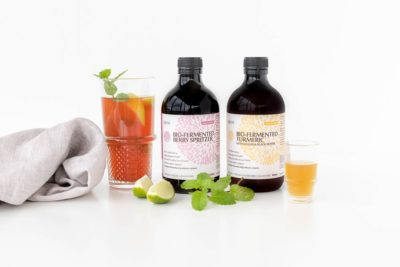 Akesi Bio-Fermented Turmeric Tonic and Berry Spritzer